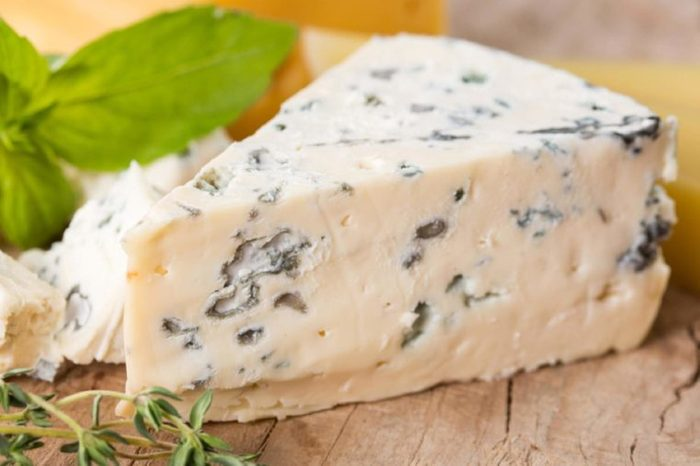 triangle chunk of bleu cheese