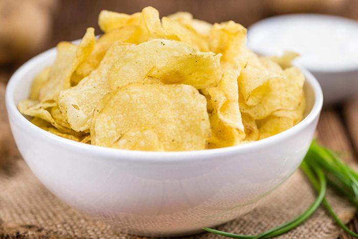 Bowl of potato chips