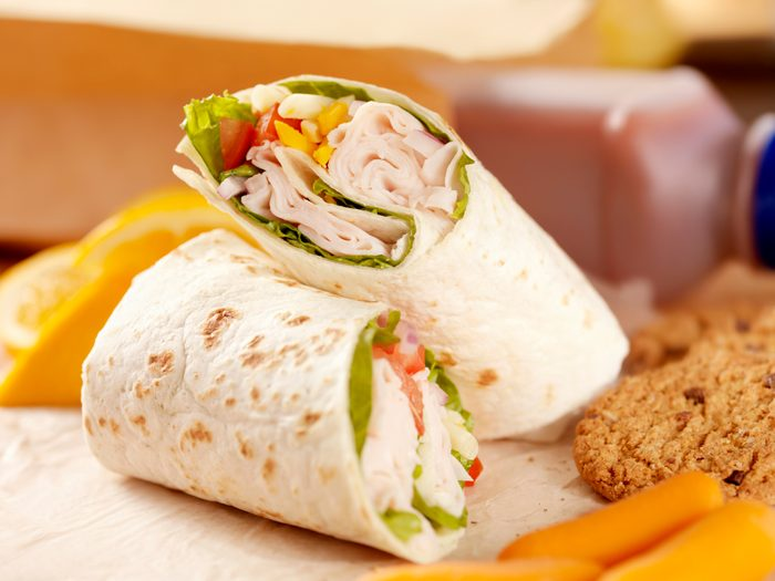 wrap lunch