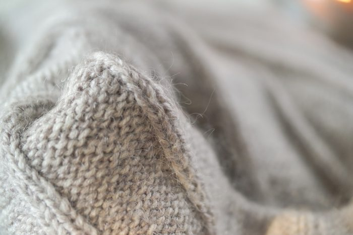 close up of wool sweater