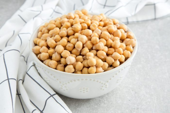Cooked Chickpeas on a bowl