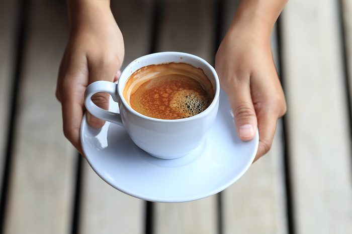 coffee on hand ready to serve