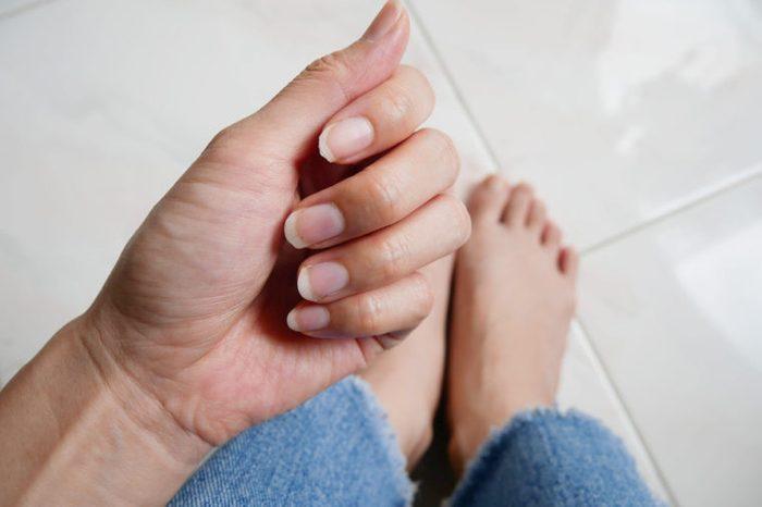 Close up fingernails