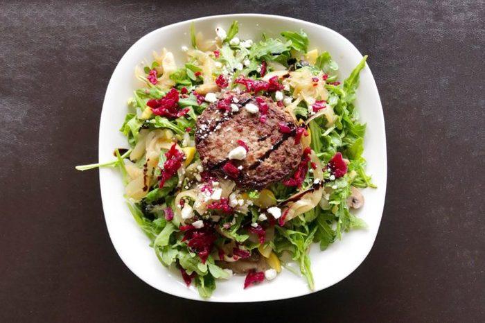 Easiest Burger Salad.