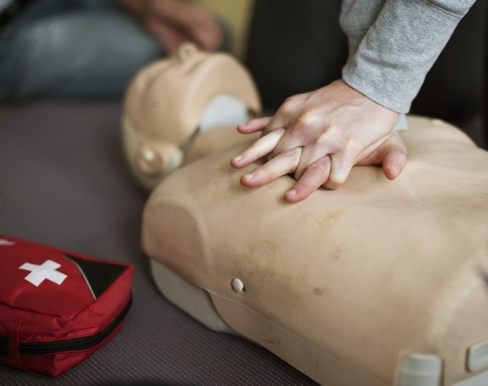 hands on CPR dummy