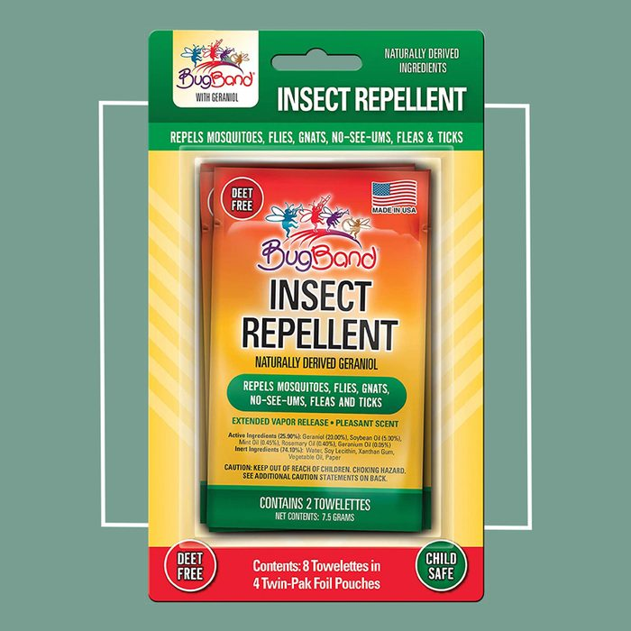 bug band insect repellent towlettes