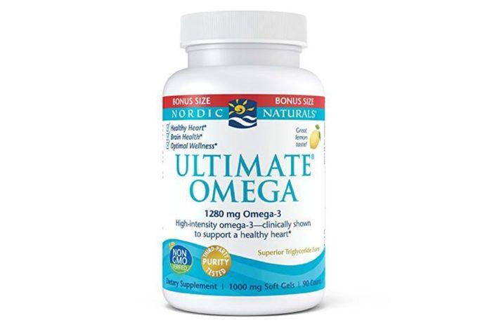 Bottle of Ultimate omega vitamins