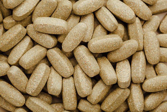 nutrition supplements, brown vitamin pills