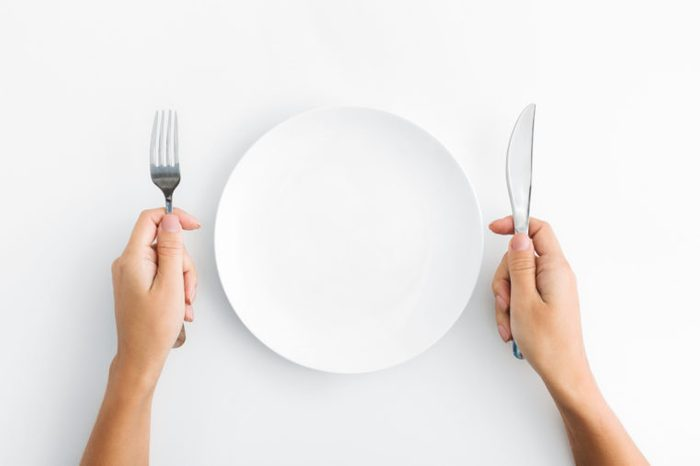 fork and knife plate