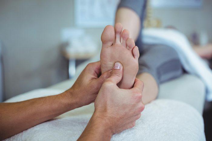 rubbing someone's feet
