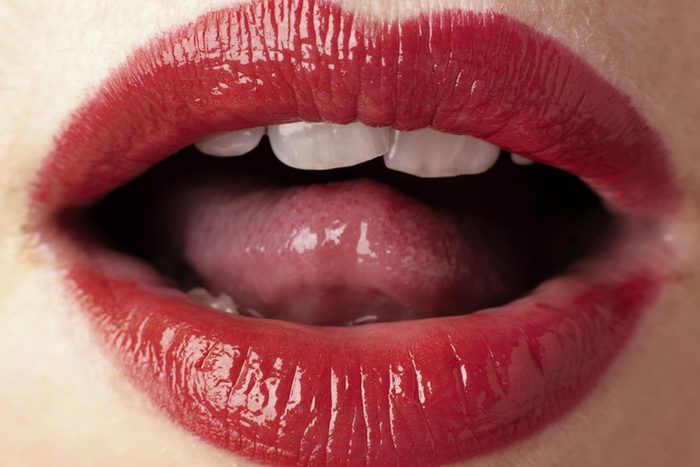close-up of mouth and tongue