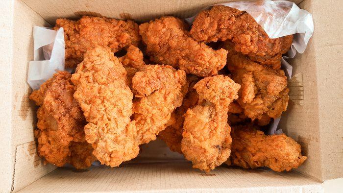 crispy kentucky fried chicken in delivery box