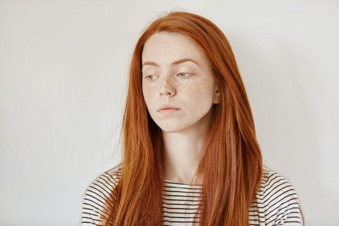 Sad young woman.