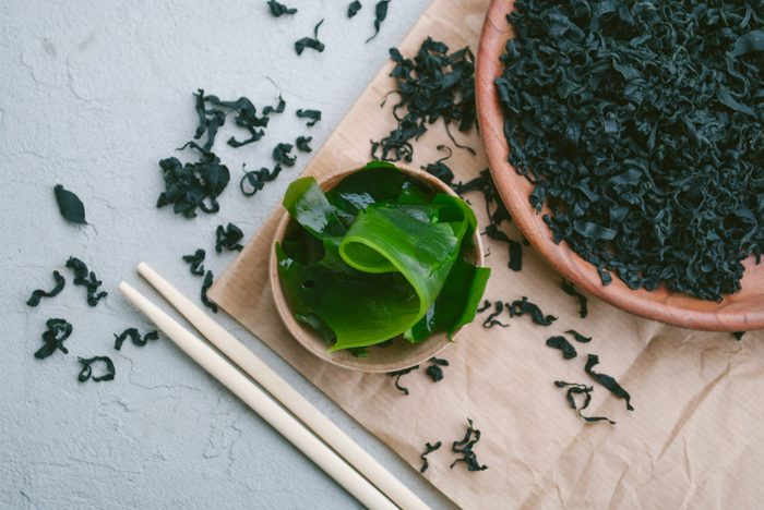 Japanese seaweed wakame