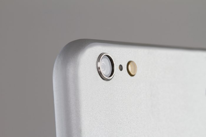 Close up of a cell phone camera