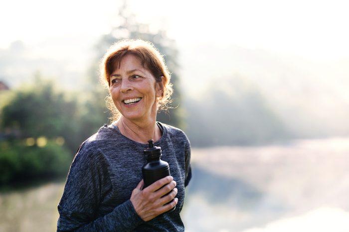 woman exercising outside