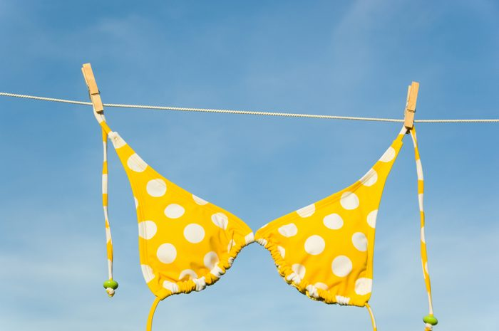 polka dot bikini top