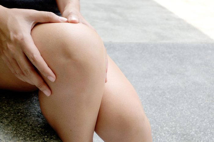 hands on knees