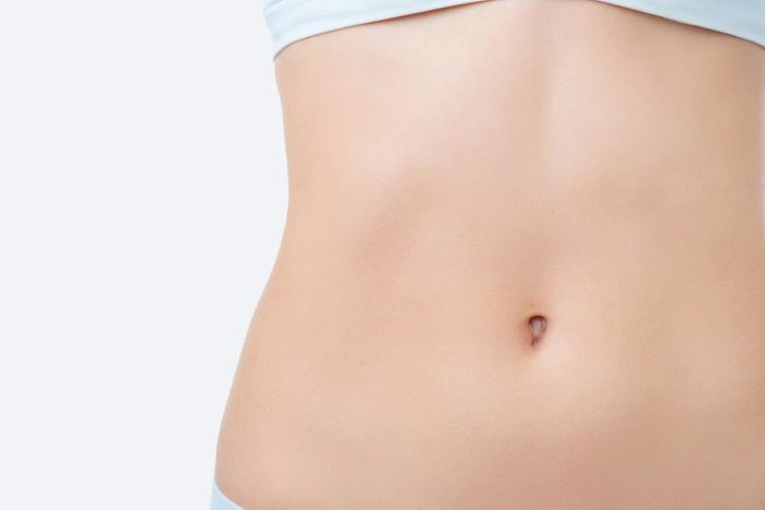 Woman stomach