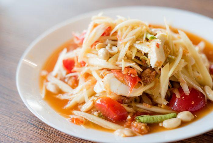papaya salad or Som Tum, Thai food