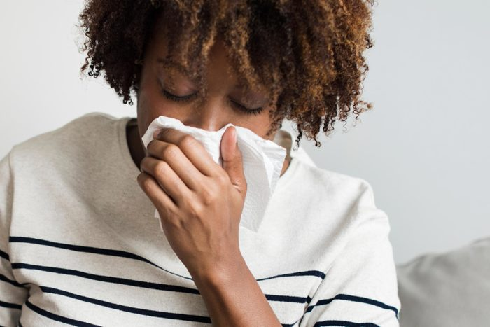 sinus infection that causes metal mouth taste