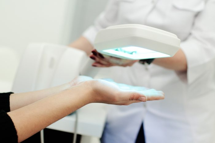 treatment of skin diseases using light therapy. Ultraviolet, psoriasis, eczema, dermatitis, a dermatologist