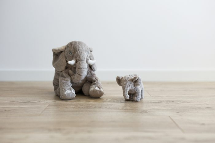 Toy elephant in the children's room
