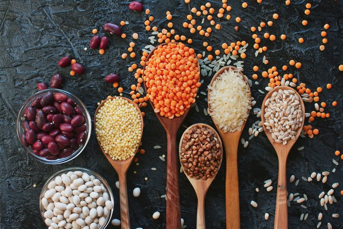 lentils, seeds, beans and rices