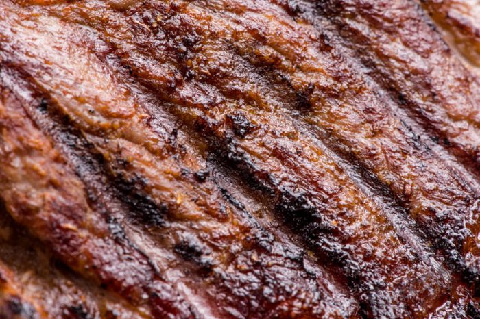 close-up of grilled steak