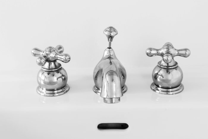 Two handle sink faucet.
