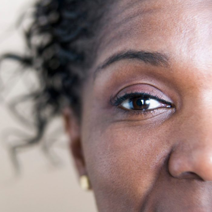 cropped close up of woman's eye