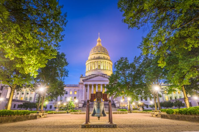West Virginia State Capitol in Charleston, West Virginia, USA.
