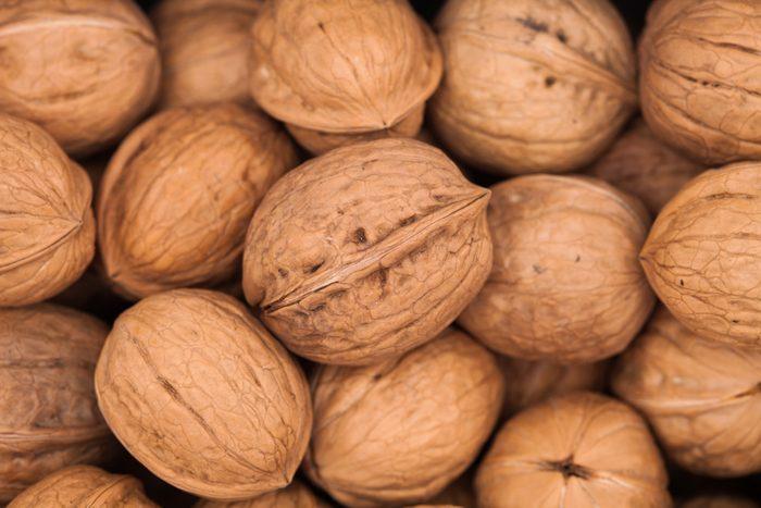 Walnuts background texture