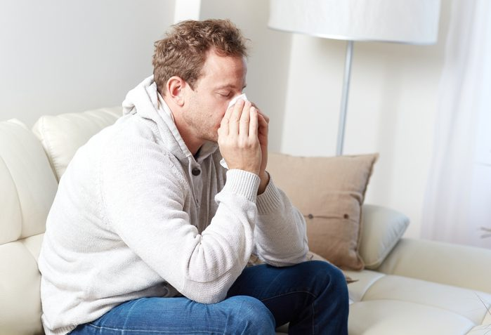 Sick man with cold