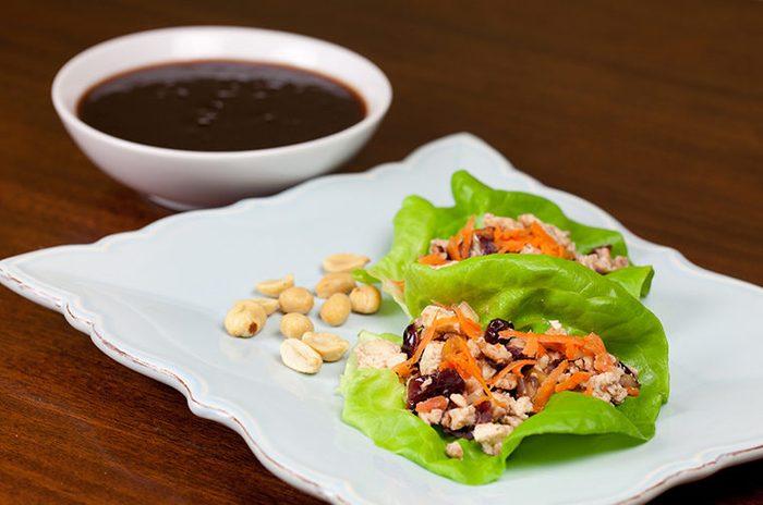 cranberry tofu lettuce cups
