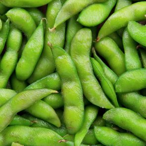 Edamame soy beans background
