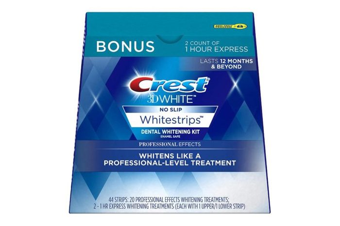 box of Crest 3D White Professional Effects Whitestrips Whitening Strips
