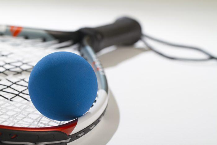 racquetball ball and raquet