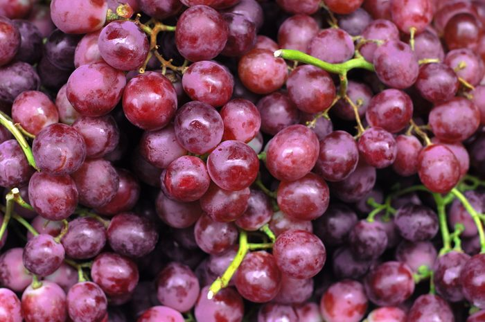 Close-up of bunches of grapes