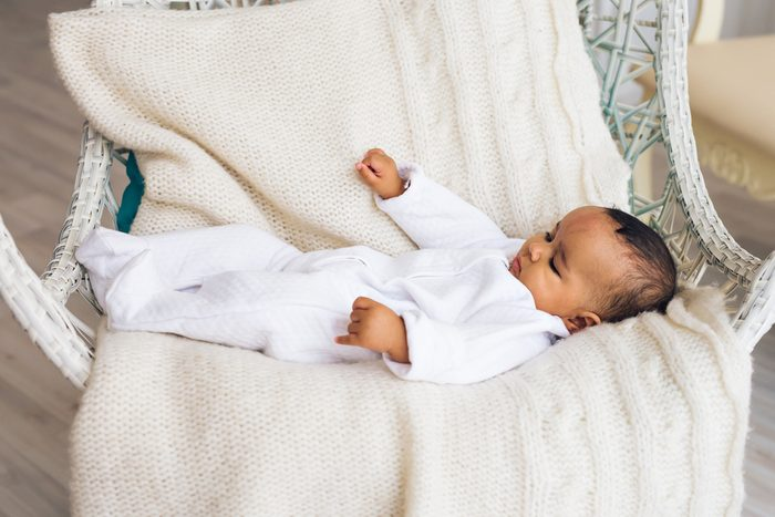 Adorable little african american baby boy smiling - Black people