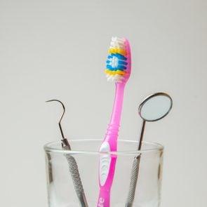 toothbrush holder dental tools