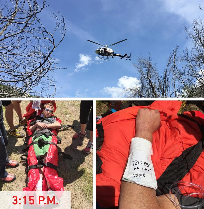 Helicopter rescues man with snake bite