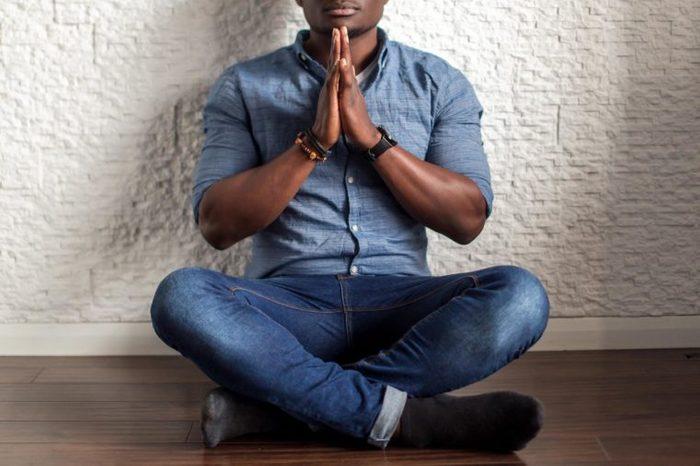 meditate meditation man stress