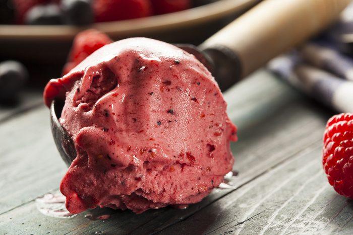 Homemade Organic Berry Sorbet Ice Cream Ready to Eat