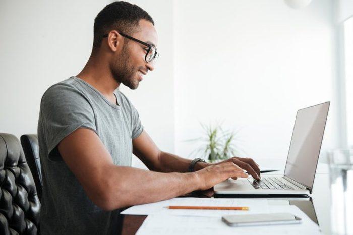 man type laptop