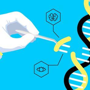 DNA/genes illustration concept
