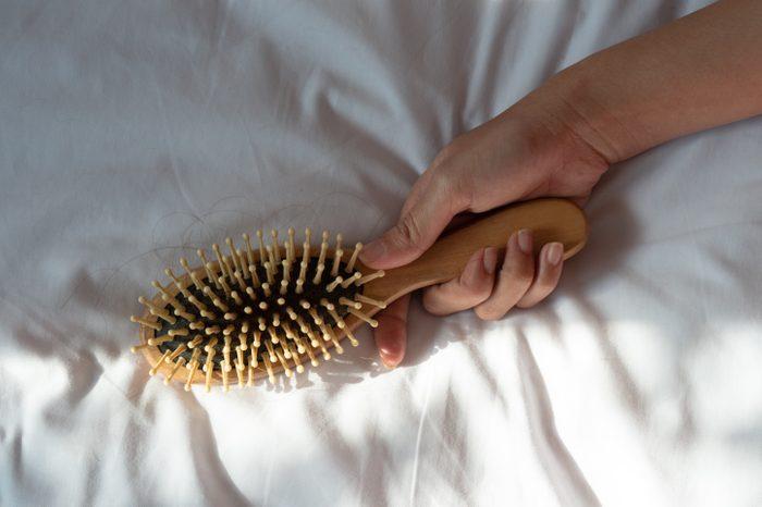brush with hair loss