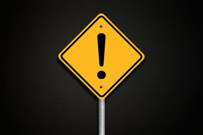 caution hazard danger sign