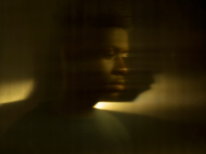 blurry long exposure portrait of a man
