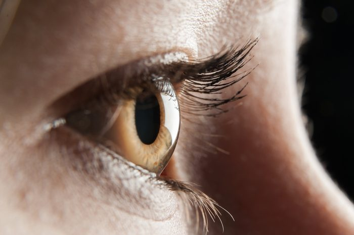 women eye closeup